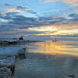 Sunrise On Ice by Greta Larson Photography