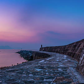 Maggie McCall - Sunrise on the Cobb, Lyme Regis, Dorset, UK.