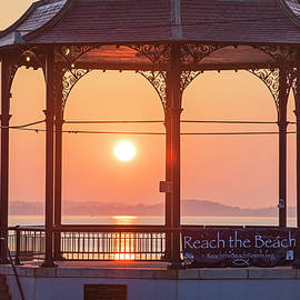 Toby McGuire - Sunrise on the Revere Beach Bandstand Revere MA