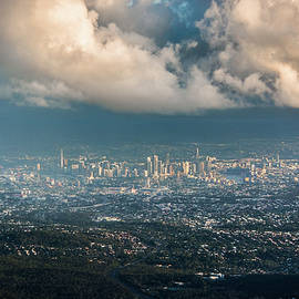 Sunrise Over A Cloudy Brisbane by Parker Cunningham