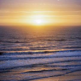 Sunrise over Atlantic waves by Elena Elisseeva