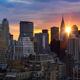 Janet Fikar - Sunrise Over Chrysler