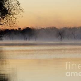 John Franke - Sunrise Fog Over Water 3