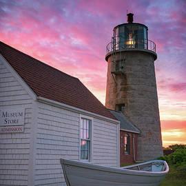 Sunrise Over Monhegan Lighthouse by Darylann Leonard Photography