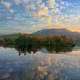 Sunrise Over Mt. Katahdin by Jesse MacDonald