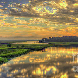 Reid Callaway - Sunrise Over Turners Creek Savannah Tybee Island Art