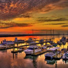 Reid Callaway - Sunrise Over Tybee Bull River Marina Art