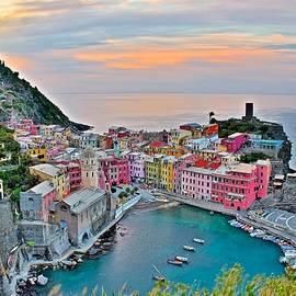 Frozen in Time Fine Art Photography - Sunrise over Vernazza