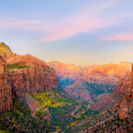 Dave Koch - Sunrise over Zion Canyon - Fall