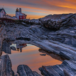 Kristen Wilkinson - Sunrise Reflections at Pemaquid Point