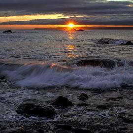 Marty Saccone - Sunrise Seascape Over Sail Rock