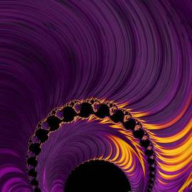 Sunrise Solar Eclipse Fractal Abstract by Rose Santuci-Sofranko