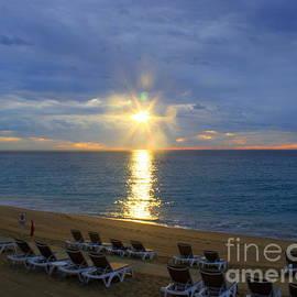 Sunrise sunburst Cabo Sea of Cortez by Charlene Cox