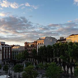 Georgia Mizuleva - Sunrise Sunlight at Plaza de Santa Ana Madrid Spain
