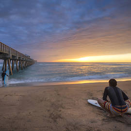Sunrise Surfer by Debra and Dave Vanderlaan