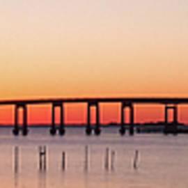 Jeff at JSJ Photography - Sunrise Under Navarre Bridge on Santa Rosa Sound Panoramic