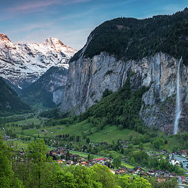 Sunset Above The Lauterbrunnen Valley by James Udall
