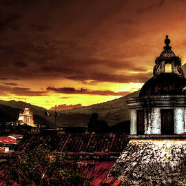 Sunset at Antigua Guatemala, Guatemala. by Totto Ponce