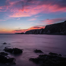 Sunset At Ayrmer Cove by Pete Hemington