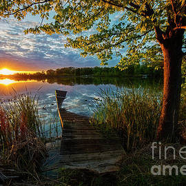 Sunset at Broken Dock by David Arment