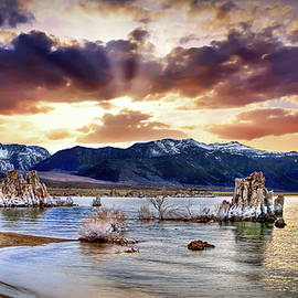 Sunset At Mono Lake by Endre Balogh