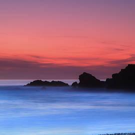 Maggie McCall - Sunset at Summerleaze Beach, Bude, Cornwall.