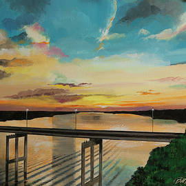 Bill Dunkley - Sunset at the Community Bridge