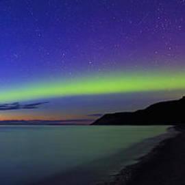 Sunset Aurora over Lake Michigan by Dale Niesen