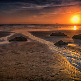 Sunset Canon Beach Oregon 2-DSC04319 by Greg Kluempers