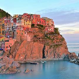 Frozen in Time Fine Art Photography - Sunset Colors of Manarola