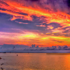 Geraldine Scull - sunset down Jersey shore