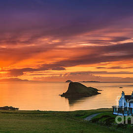 Henk Meijer Photography - Sunset Duntulm Castle, Scotland