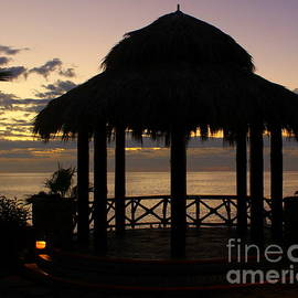 Sunset Gazebo Sea of Cortez Cabo Mexico by Charlene Cox