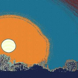 Celestial Images - Sunset in Samarkand City, Uzbekistan Central Asia