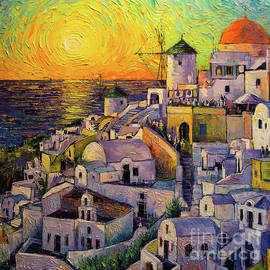 Mona Edulesco - Sunset In Santorini