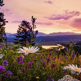 Sunset In The Kootenays by Tracy Munson