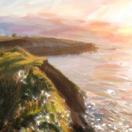 Celestial Images - Sunset of cliff