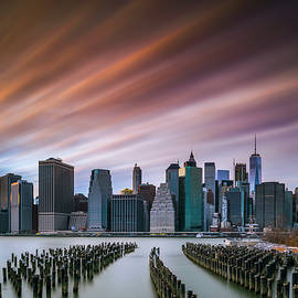 Randy Lemoine - Sunset of Downtown from Brooklyn Marina