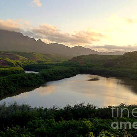 Sunset on a Hawaiian Fish Pond by Melissa Cole