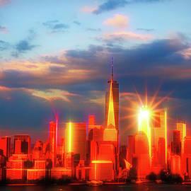 Allen Beatty - Sunset on Lower Manhattan # 2