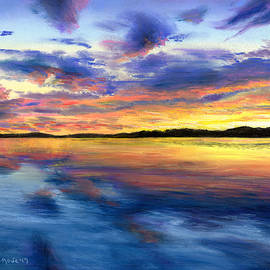 Shana Rowe Jackson - Sunset on Snow Pond