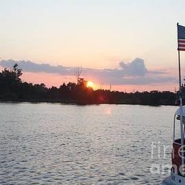 Sunset On The Cape Fear River North Carolina by John Telfer