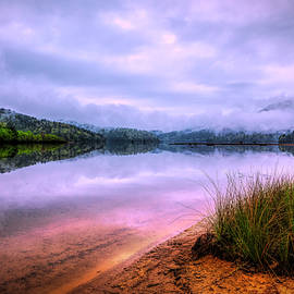 Debra and Dave Vanderlaan - Sunset on the Mountain Lake