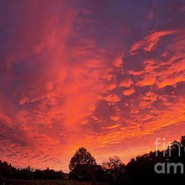 Sunset Over a Maine Farm by Alana Ranney
