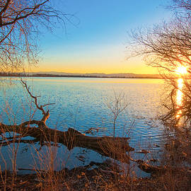 Sunset Over Barr Lake by Tom Potter
