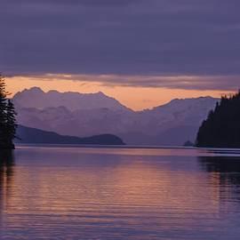 NaturesPix - Sunset over Bradley Ice Field Alaska