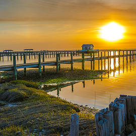 Sunset Over Chincoteague Bay I by Steven Ainsworth