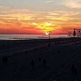 John Telfer - Sunset Over Coney Island Beaches