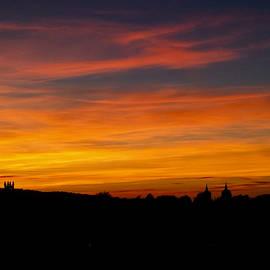 Sunset Over Edinburgh by Christi Kraft