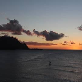 John Franke - Sunset over Hanalei Bay